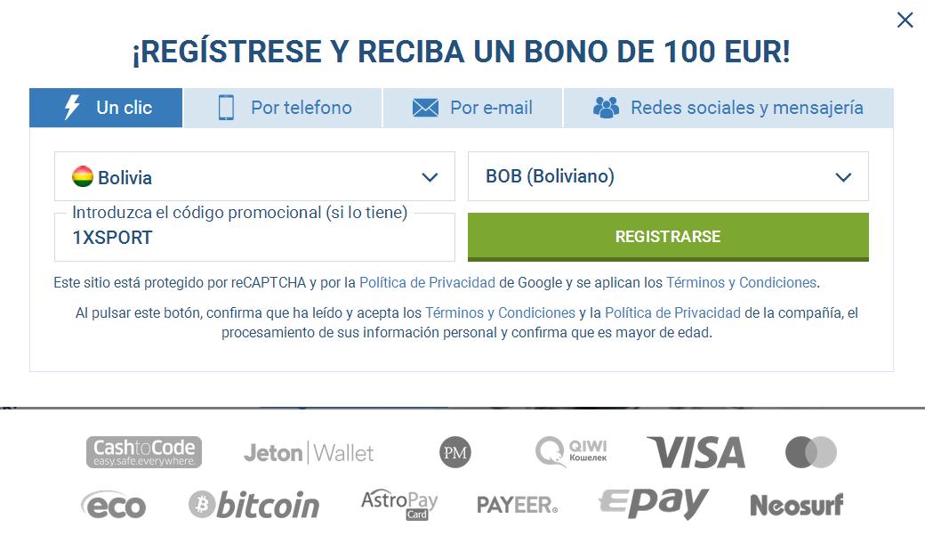 Registro Cuenta Bolivia