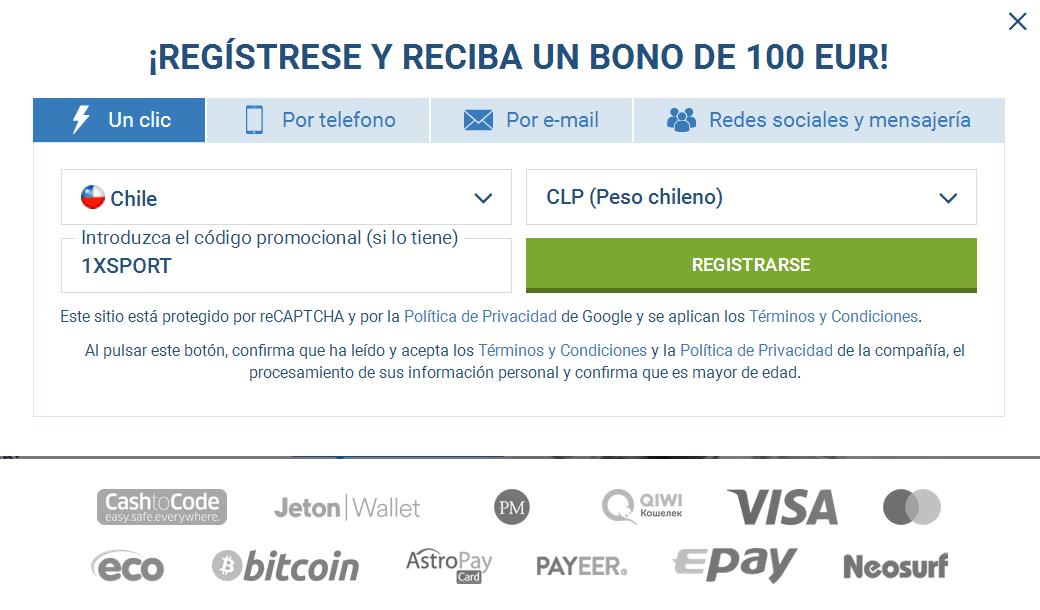 Registro Cuenta Chile