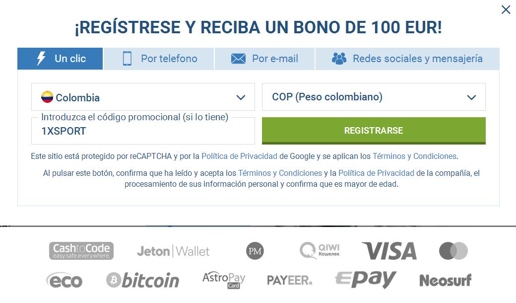 Registro Cuenta Colombia