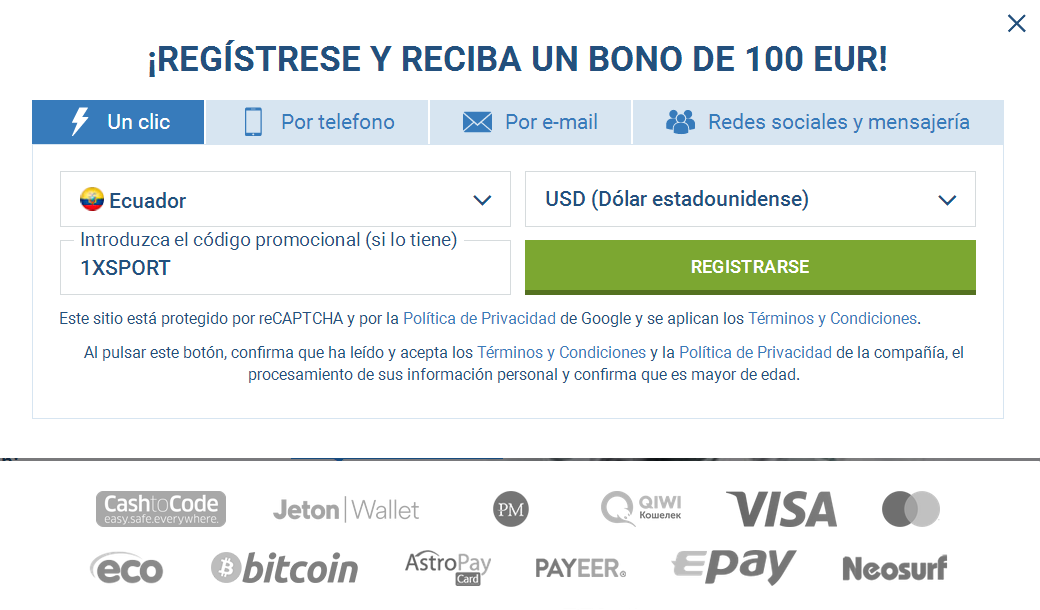 Registro Cuenta Ecuador