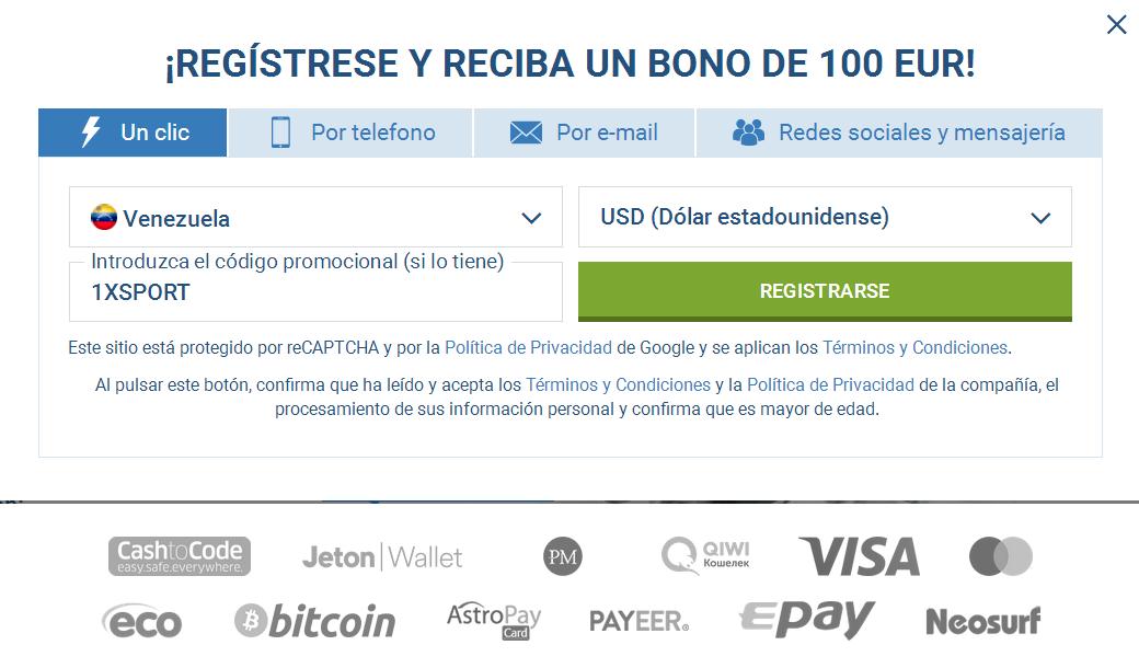 Registro Cuenta Venezuela
